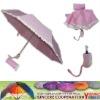 Nylon 3 pink folding umbrella