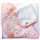 organic cotton/bamboo& cotton hooded baby towel BC-BR1180
