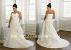 Popular Ruching Pleated Appliqued Plus Size Bridal Gown