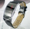 Stylish LED Digital Wrist Watch Trendy Design Black Resin Band Electronic Movement for Male and Female
