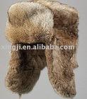 Natural Brown Rabbit Fur Hat