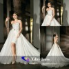 Beaded One Shoulder Mini Wrap Around Tulle Train Featuring Bridal Dresses Wedding Dress