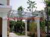 Modern awning material of iron in garden