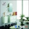 floor mounted modern oak solid wood white bathroom cabinet HS-C2010