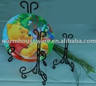 decorative Black Wrought Iron Scroll Easel K0206