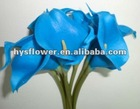 High quality blue flower. Real touch artificial blue mini calla lily