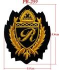 Golden embroidery olive leaf badges