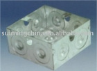 Metal slotted metal coin box
