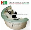 half round melamine reception desk