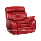 YR1141 Modern red recliner, red leather recliner chair