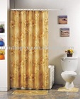 100% Polyester Golden printed Shower Curtain/Bath Curtain 028