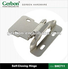 Self-closing hardware hinge