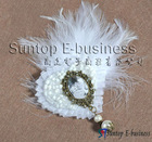2012 newest wedding feathers accessories,heart design hair flower