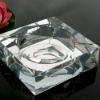 crystal glass ashtray