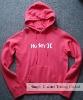 Lady's plain pink hoodies