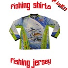 Hot!Fishing jersey with sublimated printing