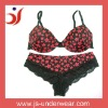 Printed ladies underwear bra new design