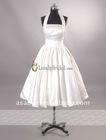 Pretty Halter Short Satin homecoming dress Cocktail dress Lady dress sleevless-NB2859