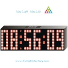 2011 new hot sale fashion red white led clock