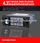 "One Din 4.3"" Bluetooth GPS IPod DVD Player"