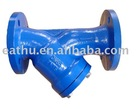 flange end ductile iron y tupe strainer