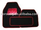 rattan car floor mat+pvc backing
