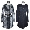 Women's Belt Long Single Breasted Coat