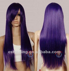 28 inch Dark Purple Long Cosplay Fashion Hair Weave