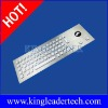 Rugged LED backlit waterproof vandal-proof metal industrial kiosk keyboard with optical trackball