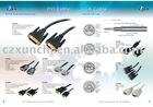 High quality 24+1 DVI plug cable and 18+1 dvi plug cable