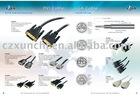 High quality 24+1 DVI plug cable and 18+1 dvi plug cable