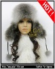 FANSHION WINTER SLIVER FOX FUR TRAPPER HAT