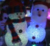 X-MAS snowman outdoor Decoration plastic snowmen with led light lighted acrylic snowman