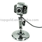 PC Webcam Web Cam USB Camera with 6 LED Lights Mic