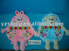 plush toy bear and bunny backpack