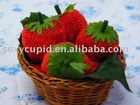 beautiful nice design fresh strawberry fruit towel for festivals from China manufacturer