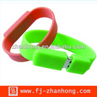 hot sell silicon wristband with usb driver