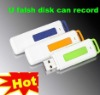 USB flash drive and voice recorder (15 hours battery life)