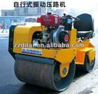 Hand Double Drums manual Vibrating Road Roller