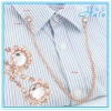 Decorative Garment Accessories Metal Chain Rhinestone Shirt Collar Ornament