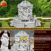 white marble angel fountain for garden WWA0048