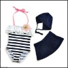 girls Swimming suit With swim Hat