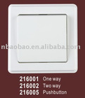 pushbutton wall switch with VDE