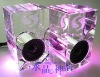 Advanced crystal mini speaker box with customized logo Paypal