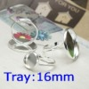 Wholesale Silver Plated Ring Adjustable Ring Bases Blanks Jewelry Findings 16mm Pad