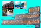 Amber/yellow/RED color bus led moving message display sign