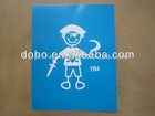Free shipping Personality family car decals --DH 8445