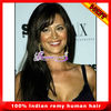 cheaper indian Remy human hair full lace wig with bangs for black women