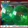 Green color inflatable water ball