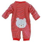 Custom made 100% organic cotton stripe baby outfit